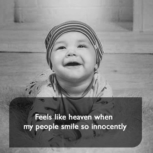 Feels like heaven when my people smile so innocently